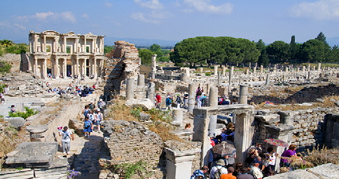 Walking through Ephesus