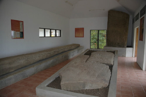 Second largest stela sits on left