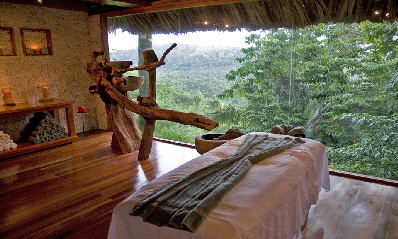 Machaca Hill Lodge treatment room