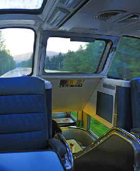 Via Rail Skyline Car