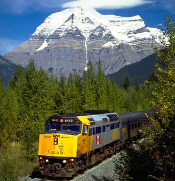 Mount Robson from Via Rail