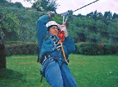 Zip line demonstration